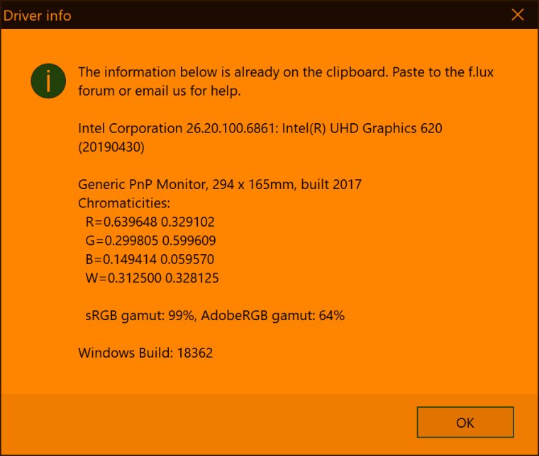Windows 10 May update (1903) (f lux forum)